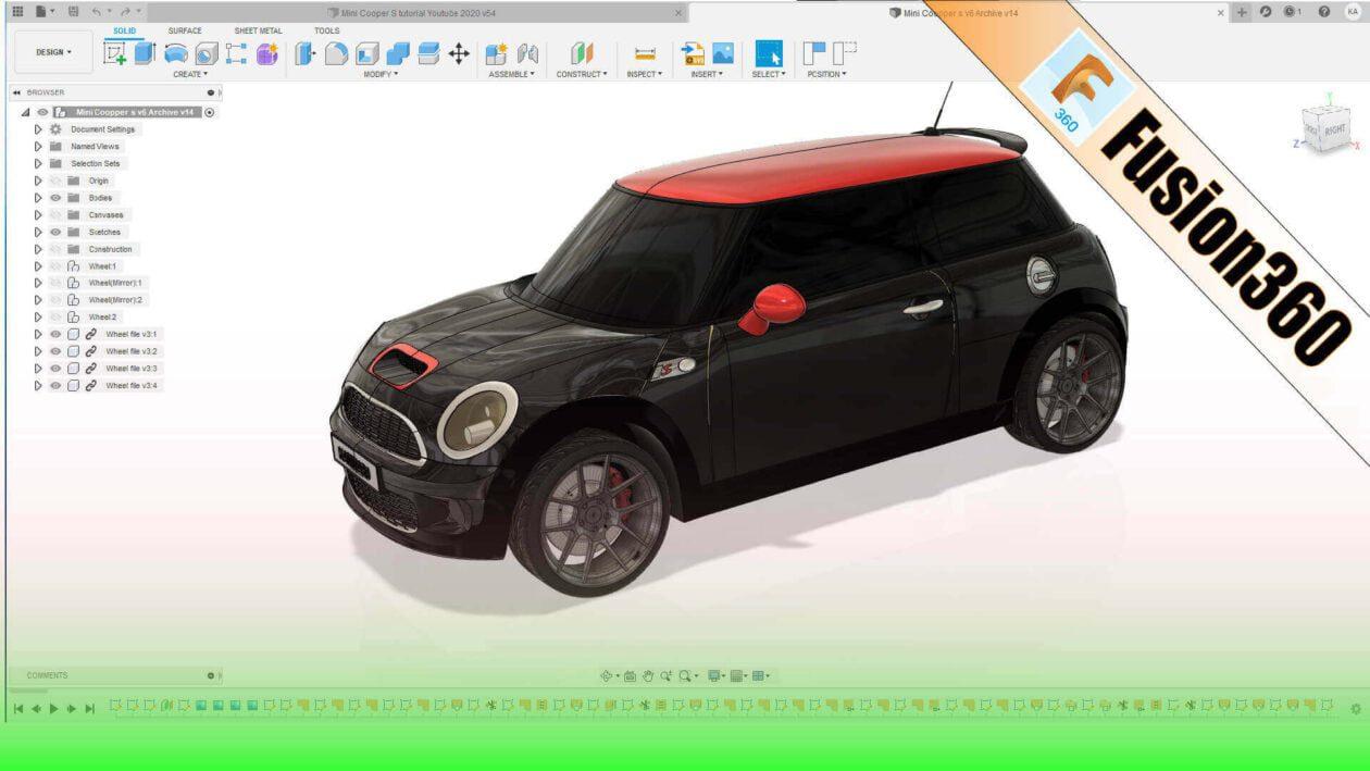 Mini Cooper S Fusion 360